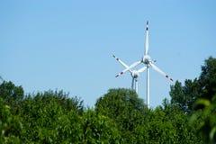 władze turbiny wiatr Obrazy Royalty Free