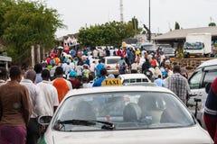 W Afryka ruch drogowy dżem Zdjęcie Royalty Free