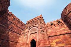 W Agra fort, Uttar Pradesh, India Fotografia Stock