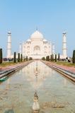 W Agra nieprawdopodobny Taj Mahal Zdjęcie Stock