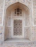 W Agra zdobny marmurowy okno Obrazy Stock