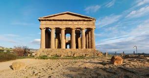 W Agrigento Concordia świątynia, Sicily, Włochy Fotografia Royalty Free