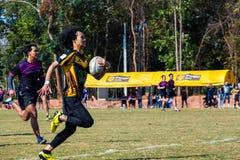 W akci rugby gracze Zdjęcie Stock