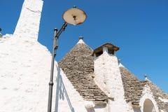 W Alberobello Trulli domy, Apulia, Włochy. Obrazy Royalty Free