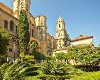 W Andalusia Malaga Katedra Zdjęcia Royalty Free