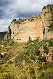 W Andalusia Ronda Skała Fotografia Stock