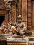 W Angkor Banteay świątynia Srei Wat Fotografia Stock