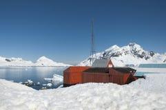 W Antarktycznym badawcza stacja Zdjęcia Stock