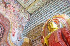 W antycznej Lankathilaka świątyni Zdjęcie Royalty Free