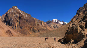 W Argentyna góra piękny krajobraz zdjęcia royalty free