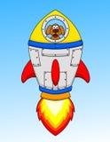 W astronautycznym statku psi kreskówka astronauta Zdjęcie Royalty Free