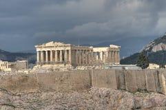 W Ateny Parthenon świątynia Zdjęcia Stock