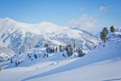 W Austria narciarstwo kurort Fotografia Royalty Free