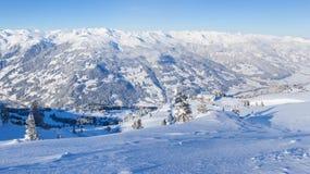 W Austria narciarstwo kurort Zdjęcie Stock