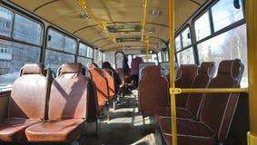 W autobusie Zdjęcia Stock