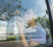 W autobusie obrazy stock