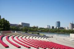 W Azja, Chiny, Pekin, lotosowego stawu parkï ¼ ŒOutdoor krajobrazu Theatre Obrazy Royalty Free