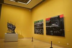 W Azja, Chiny, Pekin, muzeum sztuki powystawowej sala układ, wewnętrzny projekt Fotografia Royalty Free