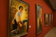 W Azja, Chiny, Pekin, muzeum sztuki powystawowej sala układ, wewnętrzny projekt Obrazy Stock
