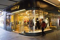 W Azja, Chiny, Pekin, Taikoo Li Sanlitun dzielnica biznesu nowożytny budynek, sklep, Zdjęcia Stock