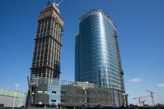 W Azja, Chiny, Pekin, w budowie budynek Zdjęcia Royalty Free