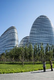 W Azja, Pekin, Chiny, nowożytna architektura, Wangjing SOHO Obraz Royalty Free