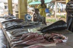 W Azja rybi rynek Obrazy Royalty Free