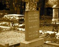 W B Отметка могилы Yeats стоковые изображения