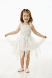 W baleta kostiumu roześmiana mała dziewczynka Obrazy Royalty Free