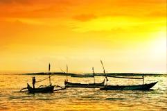 W Bali lokalna łódź fotografia royalty free