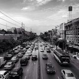W Bangkok ruch drogowy Dżem Fotografia Stock
