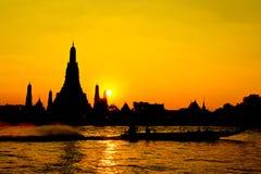 W Bangkok Wat Świątynia Arun Thailand Obrazy Royalty Free