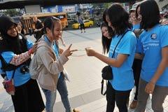 w Bangkok Wiec Fotografia Stock