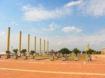 W Barcelona olimpijski park Obrazy Royalty Free