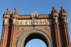 W Barcelona triumfalny łuk Zdjęcie Royalty Free