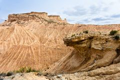 W Bardenas kamienna formacja Reales, Navarra, Hiszpania Obraz Royalty Free