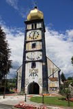 W Barnbach Hundertwasserâs Kościół Austria Fotografia Stock