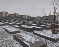 W Berlin holokausta pomnik Zdjęcia Stock