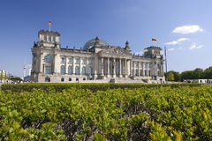 W Berlin niemiecki Reichstag Zdjęcia Stock