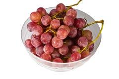 W biały pucharze czerwony winogrono Obrazy Stock