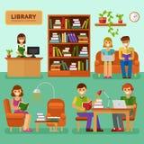 W bibliotece ilustracja wektor