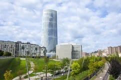 W Bilbao Iberdrola Wierza Zdjęcie Royalty Free