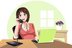 W biurze bizneswomanu działanie ilustracja wektor