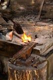 W blacksmith warsztacie Zdjęcia Royalty Free