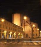 W Bologna noc życie Obrazy Royalty Free