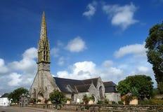 W Brittany kamienny kościół Obraz Royalty Free