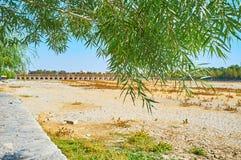 W brzeg rzeki parku Isfahan, Iran Obrazy Stock