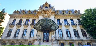W Bucharest George muzeum Enescu, Rumunia fotografia royalty free
