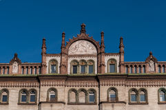 W Budapest stary budynek fotografia stock