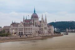 W Budapest węgierski parlament, Węgry zdjęcie royalty free